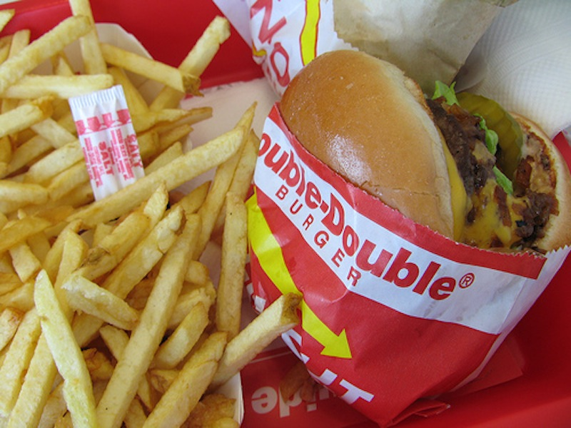 The Double-Double is In-N-Out's signature burger, but a Chinese company has started selling it anyway.