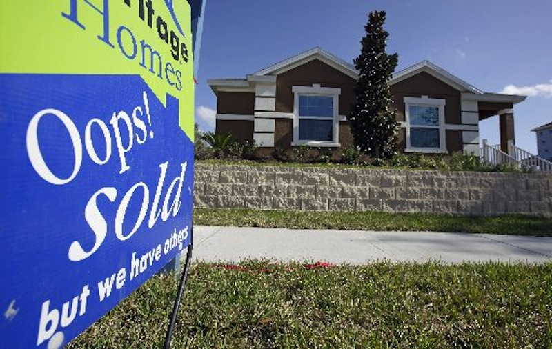 This photo shows a recently sold home in Houston, Texas. Home sales increased 4.3 percent in January in the U.S. (AP Photo)