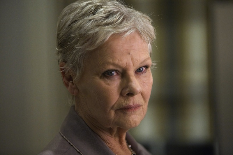 """Actress Judi Dench in the James Bond film """"Quantum of Solace""""."""