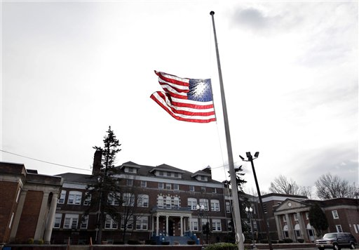 At the Whitney E. Houston Academy of Creative and Performing Arts in East Orange, N.J., an American flag was flown at half-staff on Sunday. As a young girl, Houston attended what was known then as the Franklin School.