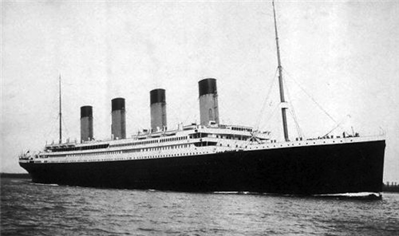 The RMS Titanic in 1912.