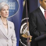Health and Human Services Secretary Kathleen Sebelius, shown with President Obama during a recent news conference in Washington, said she talked to Maine Gov. Paul LePage within the last two weeks about Maine's effort to grapple with Medicaid costs and offered to send help.