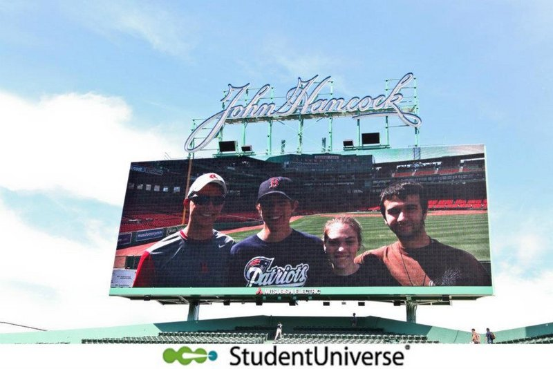 The Fenway Four: Jacob Ouellette, executive producer; Luke Fraser, executive producer; Kelsey Doherty, director of marketing; and Kyle Brasseur, director of baseball research.