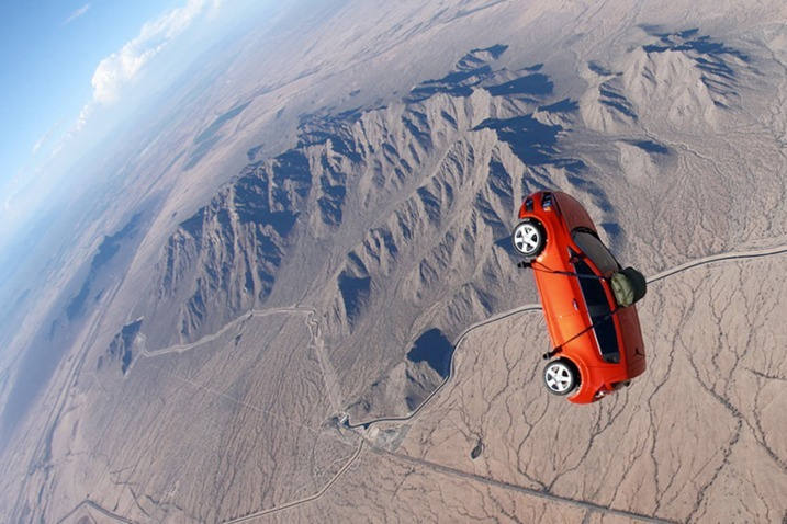 Chevy's skydiving Sonic