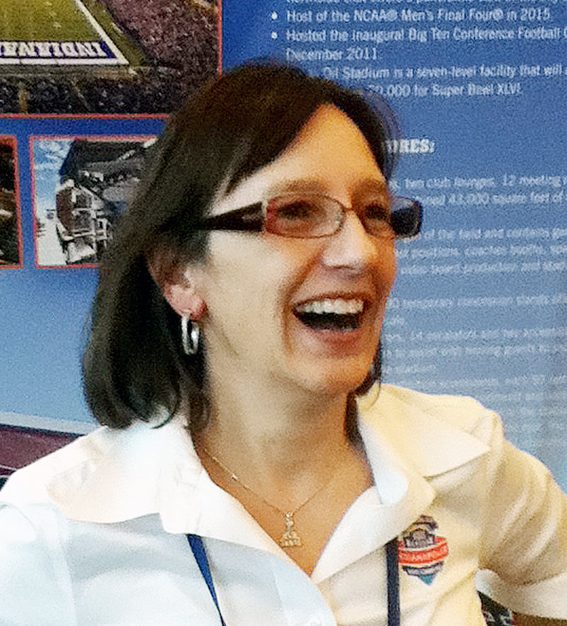 Allison Melangton, Auburn native who is president and CEO of the 2012 Indianapolis Super Bowl Host Committee