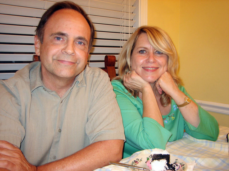 Family photo shows Susan Hallums, right, and her ex-husband, Roy Hallums.