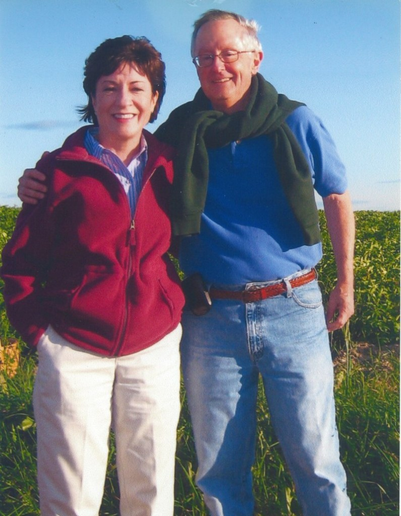 U.S. Sen. Susan Collins with her fiance, Thomas Daffron.