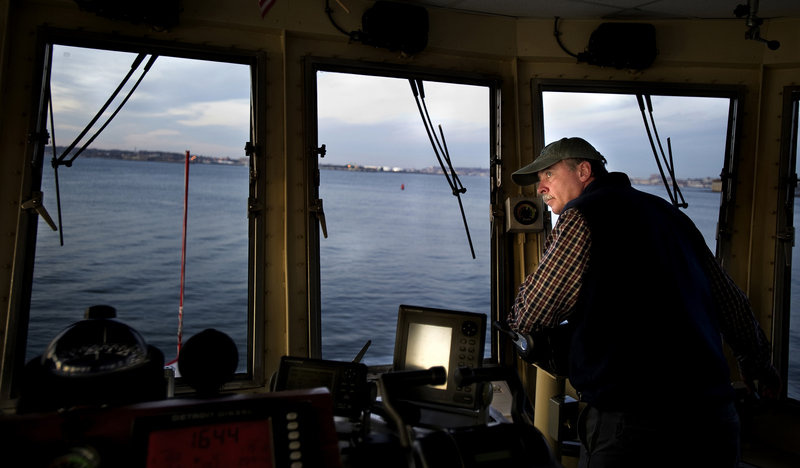 Willard has been driving the 5:05 a.m. ferry for Casco Bay Lines to the islands off the coast of Portland for 28 years.