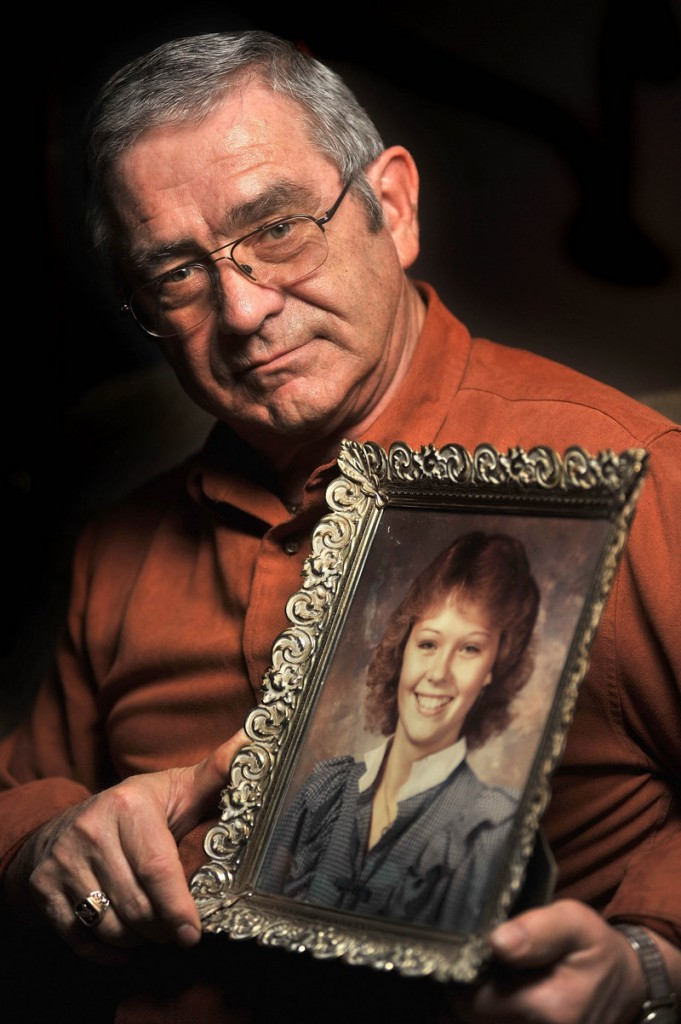 Richard Moreau of Jay, whose daughter Kimberly vanished in 1986, still hangs fresh posters of her in Jay, clinging to hope that closure is possible someday.