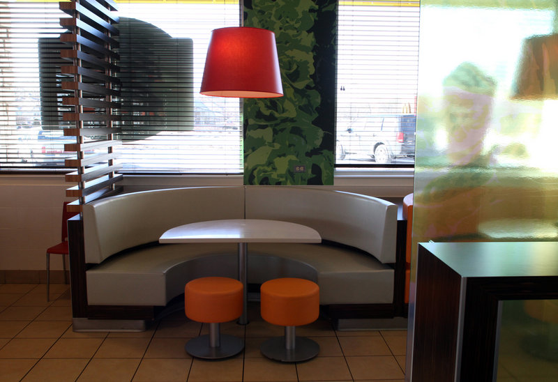 This Illinois McDonald's sports the company's new upscale look.