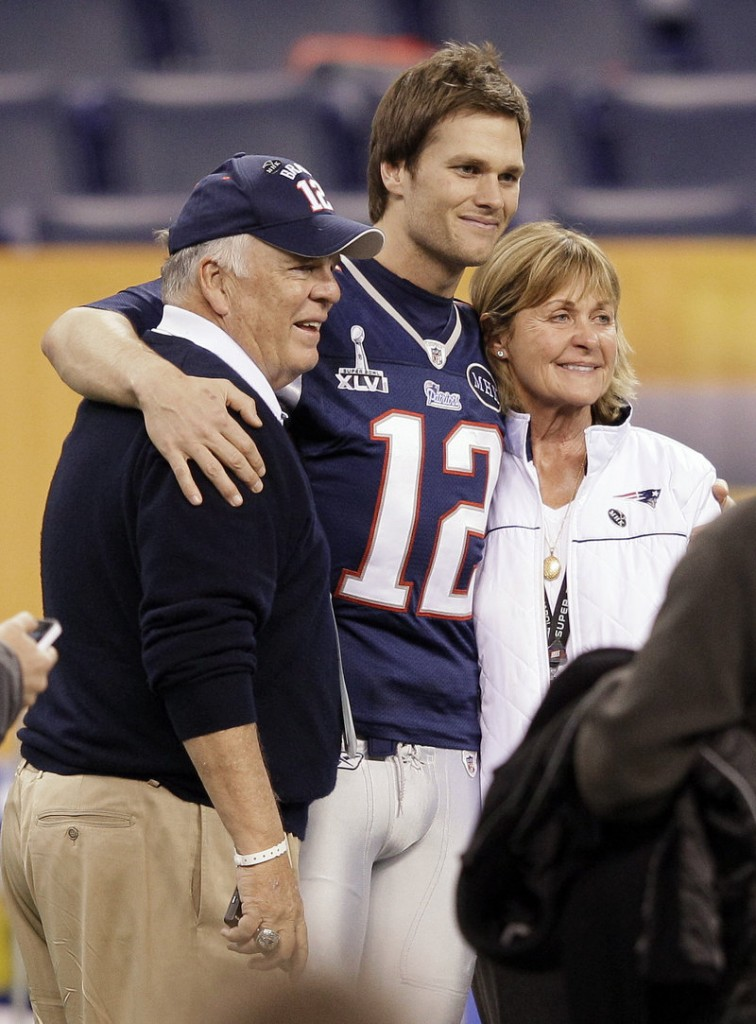A victory would be great, and sharing it would be even greater for New England Patriots quarterback Tom Brady, whose parents – Tom and Galynn – will be at the Super Bowl tonight at Indianapolis.
