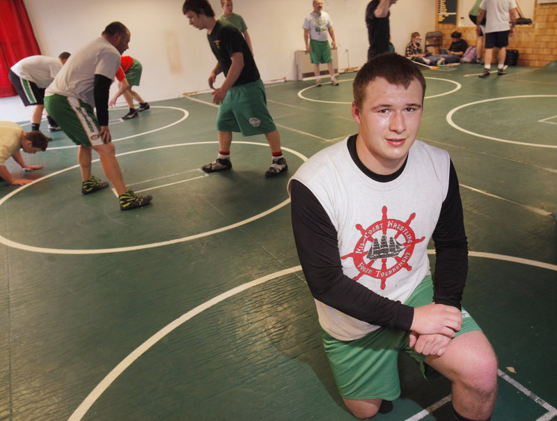 Josh Andrews, a junior at Massabesic High, was in a lot of pain earlier this season because of a leg injury. He sat out three weeks and is ready for the regional tourney.
