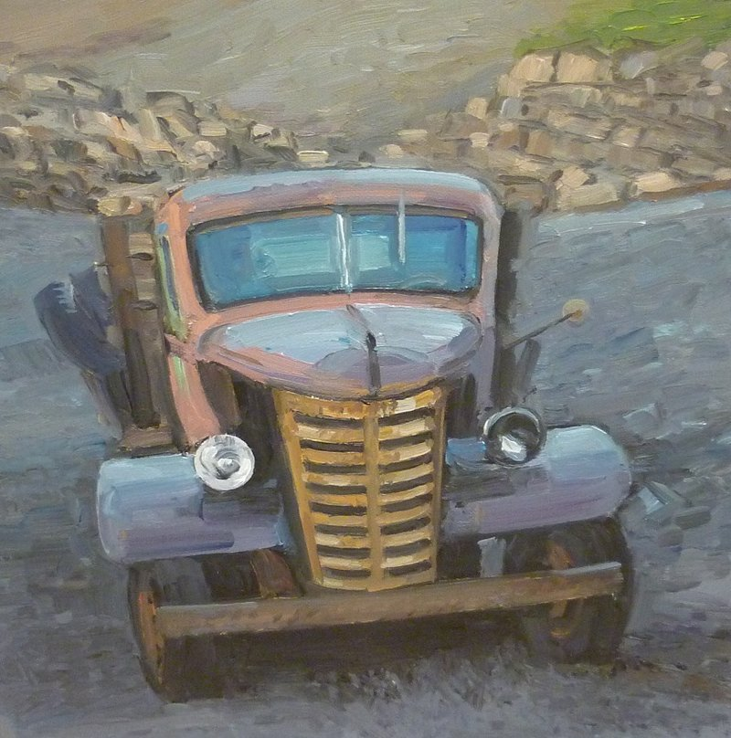 """""""Woodstock Ford"""", a painting by Kevin Beers."""