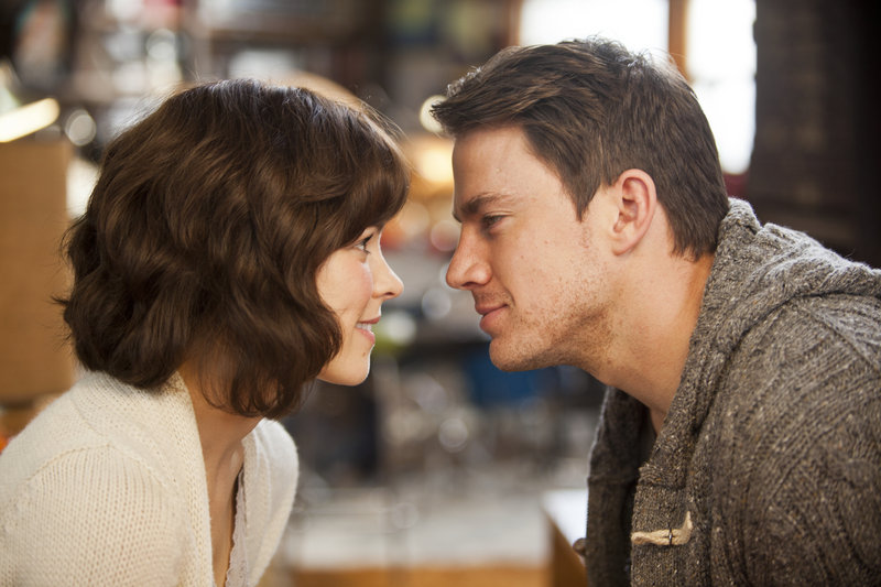 """Rachel McAdams and Channing Tatum are shown in a scene from """"The Vow,"""" the new romantic drama that took in $41.7 million to top the weekend box office."""