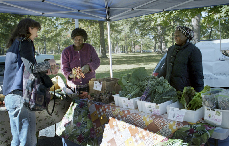 Cultivating Community received a $300,000 grant to expand a program that equips farmers markets, like the one in Deering Oaks, above, with card-swipe machines for food stamp cards.