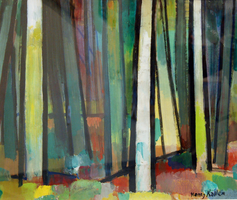 """""""Cathedral Woods, Monhegan"""" by Henry Kallem"""
