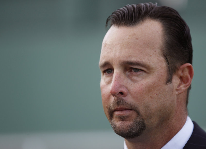 Tim Wakefield at his retirement announcement on Friday.
