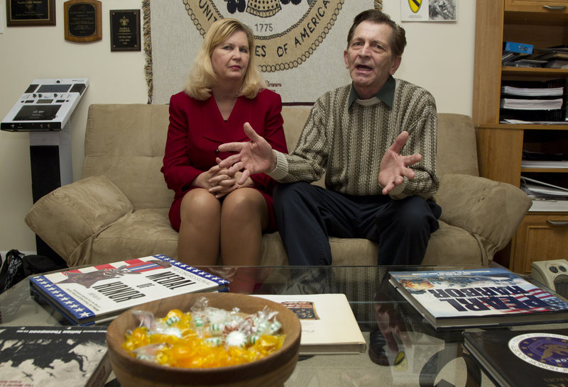 Pam Sterner wrote a college paper that led to the drafting of the Stolen Valor Act, aimed at curbing false claims of military valor. Her husband, Doug, a Vietnam veteran, exposes phony medal winners. The couple are from Alexandria, Va.