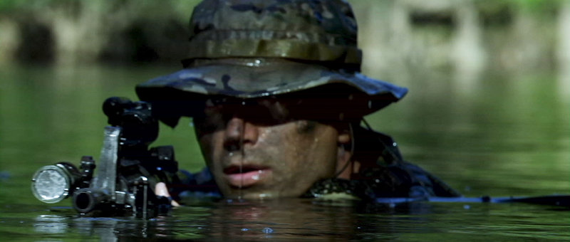 Navy SEALs in scenes from