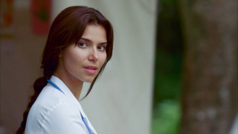 Roselyn Sanchez plays a CIA agent who falls into harm's way in