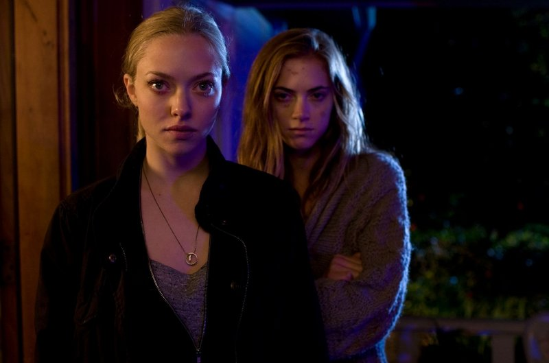 """Amand Seyfried, left, and Emily Wickersham in """"Gone."""""""