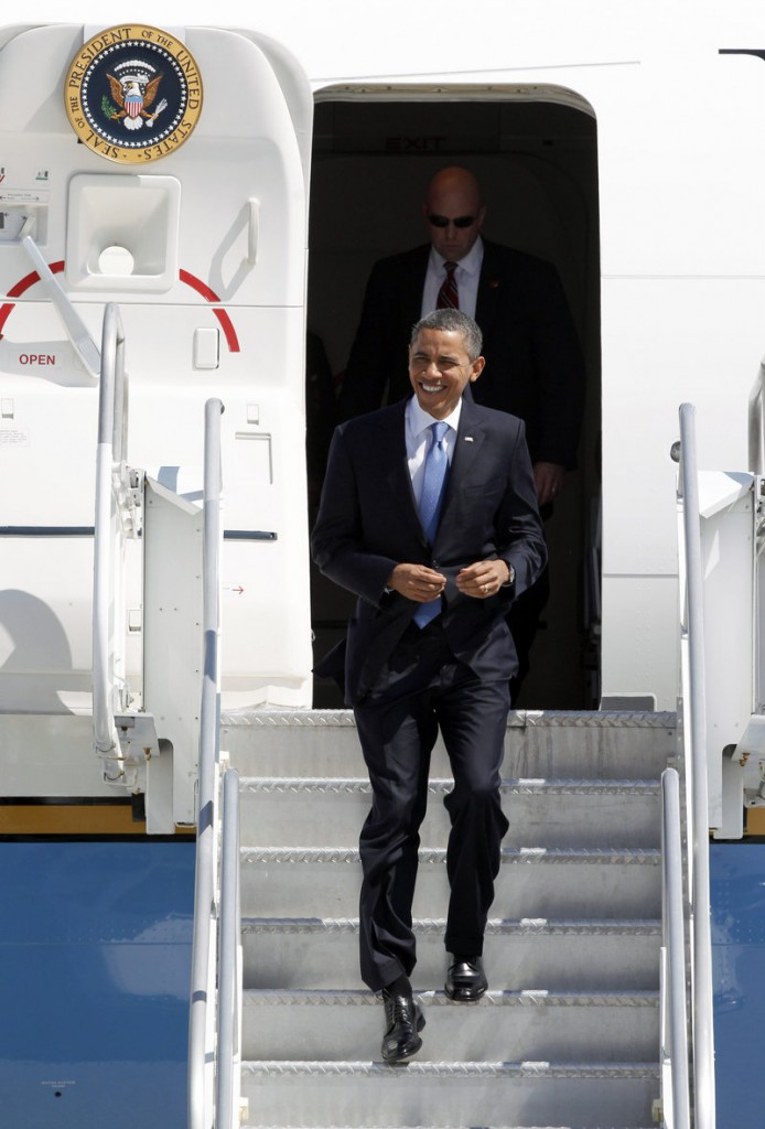 President Obama arrives in Miami on Thursday on a campaign fundraising trip.