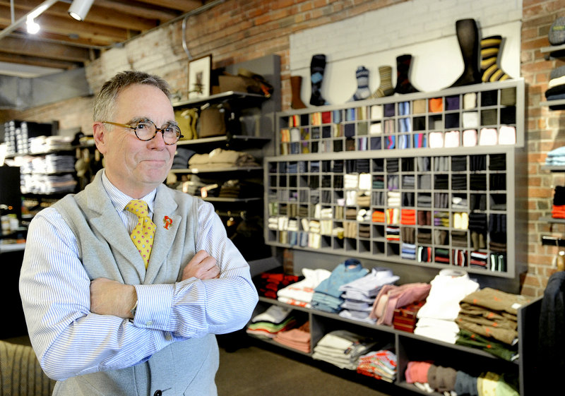 """David Hodgkins, owner of David Wood and other clothing stores on Commercial Street, says it's """"like a magnet down here."""""""