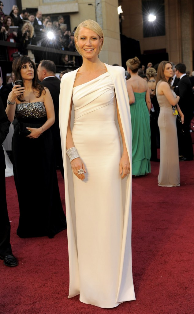 Gwyneth Paltrow wears a white Tom Ford.