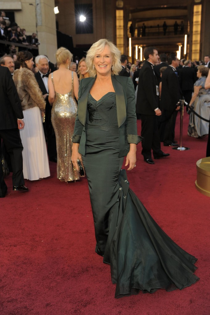 Glenn Close, a green Zac Posen.