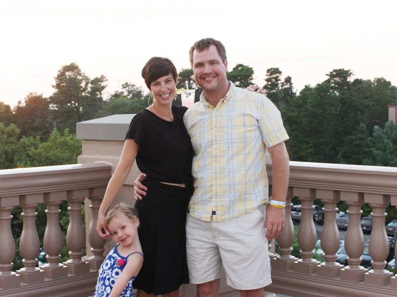 Timothy Haley with his wife Kimberly Haley and their daughter, Mia. He took over Haley Tire and Service Center in 2006.