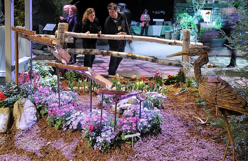 The Portland Flower Show, featuring guest lecturers and, of course, all those beautiful displays, gets under way with a gala on Wednesday and continues through March 11 at the Portland Company Complex. Seen here is the ADM Co.'s display at the 2011 show.