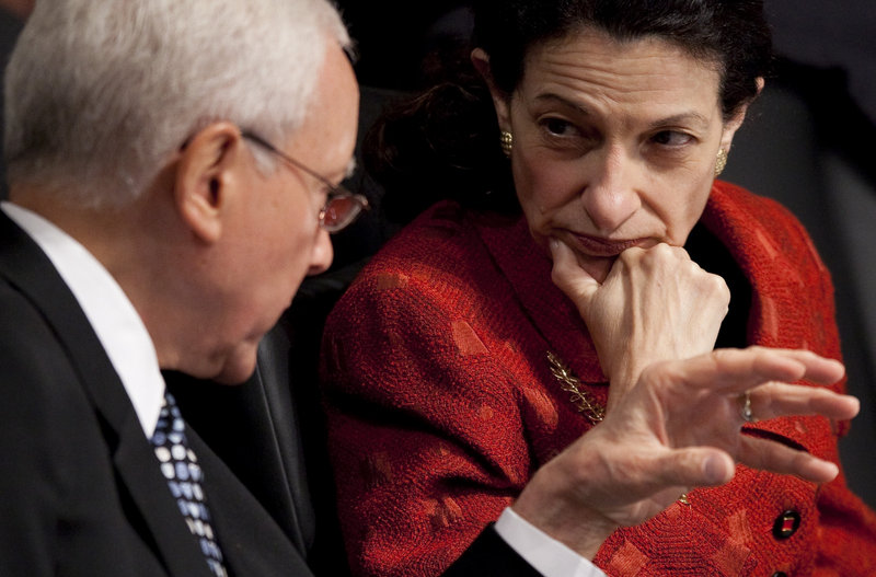 "Sen. Olympia Snowe, seen talking with Sen. Orrin Hatch, R-Utah, in 2009, will be remembered not as a champion of causes, but as ""one of the last moderate Republicans,"" says one political observer."