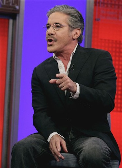 """Fox News Channel commentator Geraldo Rivera speaks on the """"Fox & friends"""" television program in New York. Rivera said Friday, March 23, 2012 that Florida teenager Trayvon Martin's hoodie is as much responsible for his death as the neighborhood watch captain who shot him. Rivera said people wearing hooded sweatshirts are going to be perceived as a menace. (AP Photo/Richard Drew)"""