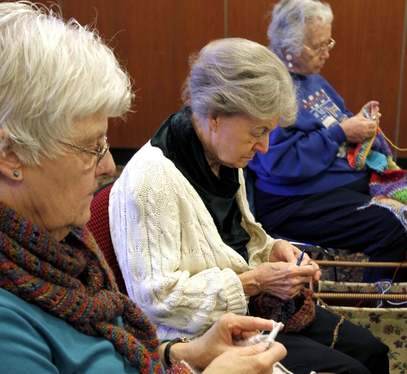 The Prayer Shawl Group of the Shepherd's Center of Kansas City, Kan., meets monthly at a church to knit and crochet shawls for hospital patients. Giving the handiwork is a blessing for the group members as well as the recipients. krt2012 10000000 krtreligion religion krtnational national krtseniors senior citizen krtedonly krtsocialissue social issue 14024005 krtfeatures features 12000000 people leisure LIF FEA mct 10004000 SOI LEI krthobby hobby charity REL krtlifestyle lifestyle 2012 14002000