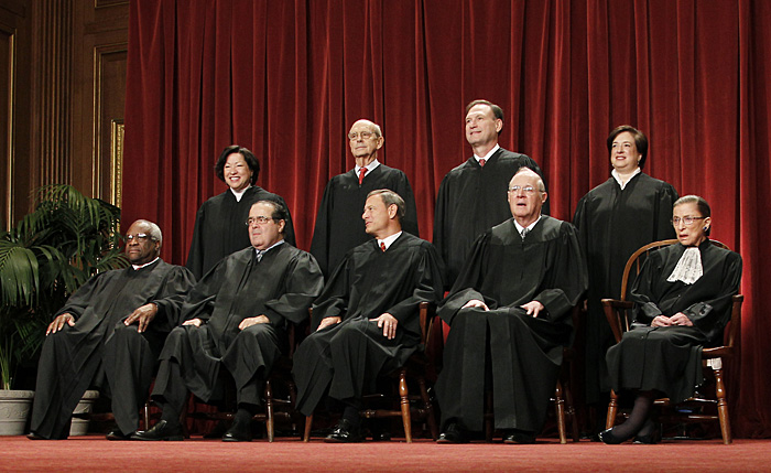 An Oct. 8, 2010, portrait of the justices of the U.S. Supreme Court.
