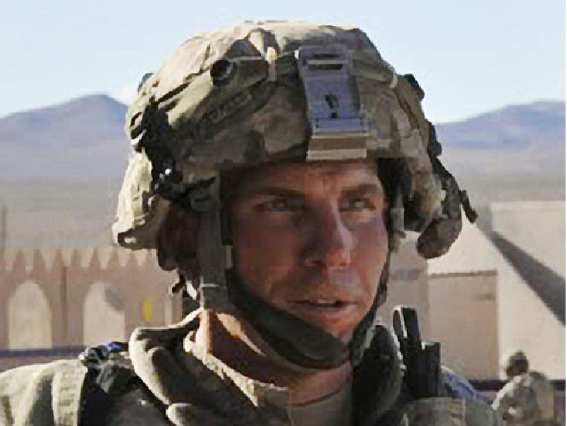 Staff Sgt. Robert Bales is seen particpating in an exercise at the National Training Center at Fort Irwin, Calif., in August 2011. Bales is accused of killing 16 civilians in an attack on Afghan villagers earlier this month.