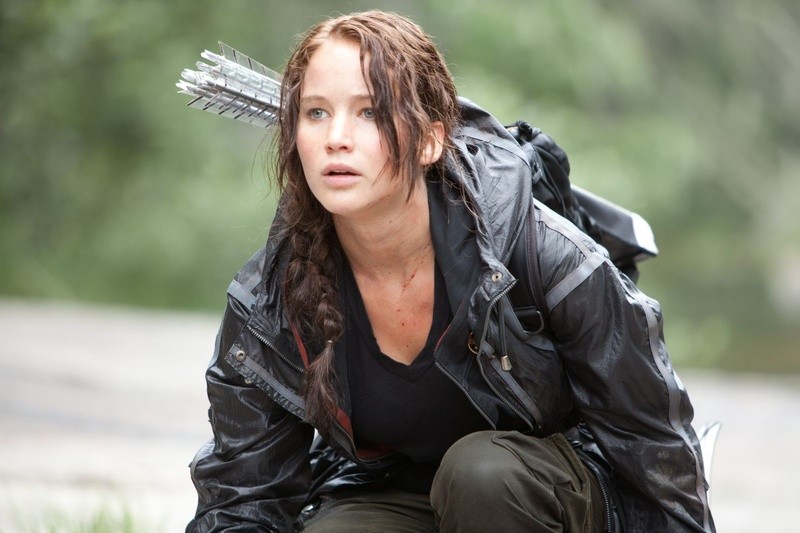 "Jennifer Lawrence stars as Katniss Everdeen in ""The Hunger Games."""