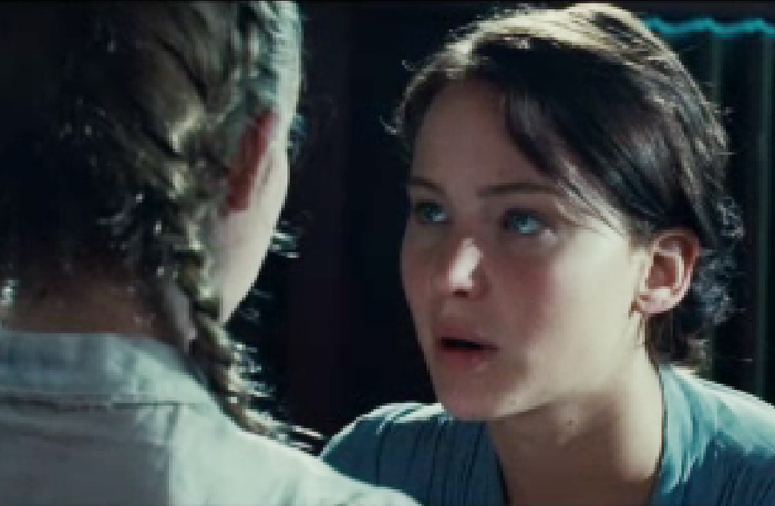 """Jennifer Lawrence in """"The Hunger Games""""."""