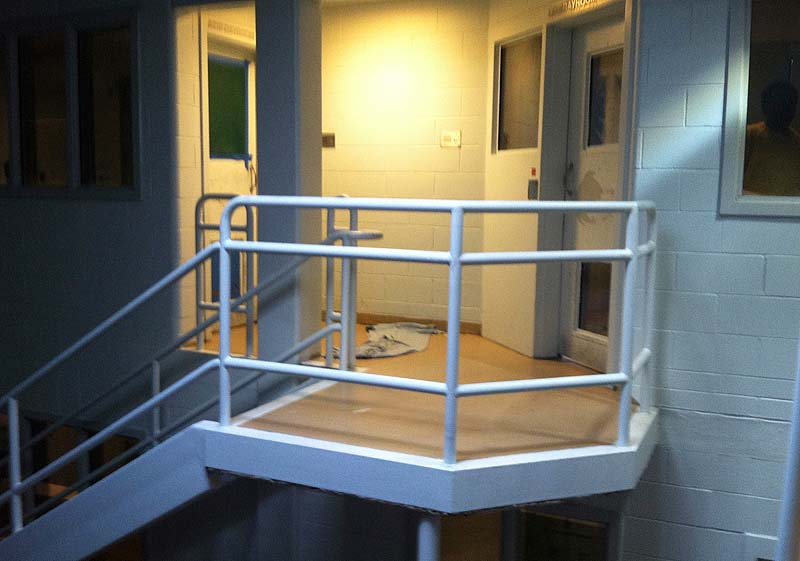 Arien L'Italien is accused of sneaking out of the maximum security cell block on the right, crawling across the floor and into the female maximum security cell block on the left where he allegedly had sex with a female inmate. A Cumberland County Jail review found other inmates also previously escaped their cells.