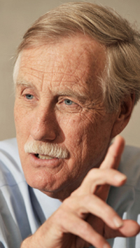 .Former Maine Gov. Angus King