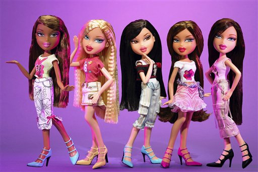 "In this photograph released by MGA Entertainment February 10, 2006, are ""Feelin' Pretty"" Bratz dolls shown at the American International Toy Fair in New York. Toymakers Mattel Inc. and its rival MGA Entertainment have battled for years for supremacy in the fashion doll market and the fight isn't over yet. (AP Photo / MGA Entertainment)"