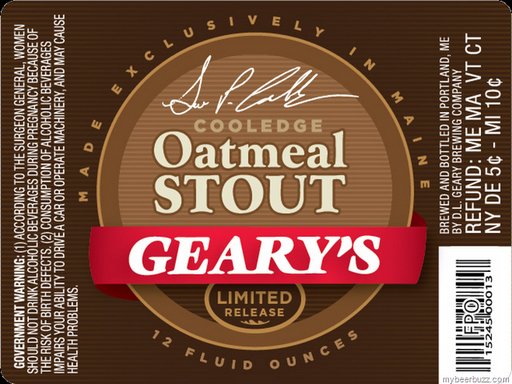 Geary's Oatmeal Stout, a 25th-anniversary brew now available in bottles, won't be a full-time product, says founder David Geary.