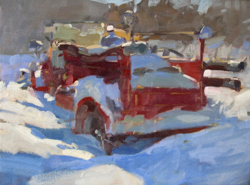 """Firetruck in the Snow"" by Colin Page."