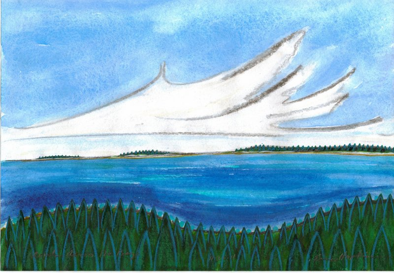 """Clouds Across the Bay"" by Eric Hopkins."