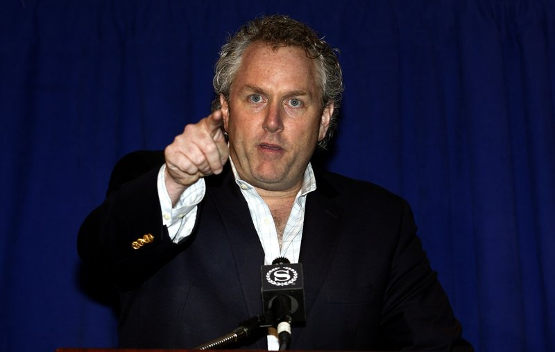 Andrew Breitbart, the conservative blogger who exposed the bulging-underpants photo of U.S. Rep. Anthony Weiner, D-N.Y., that Weiner sent to a young woman, addresses a news conference in New York in 2011.