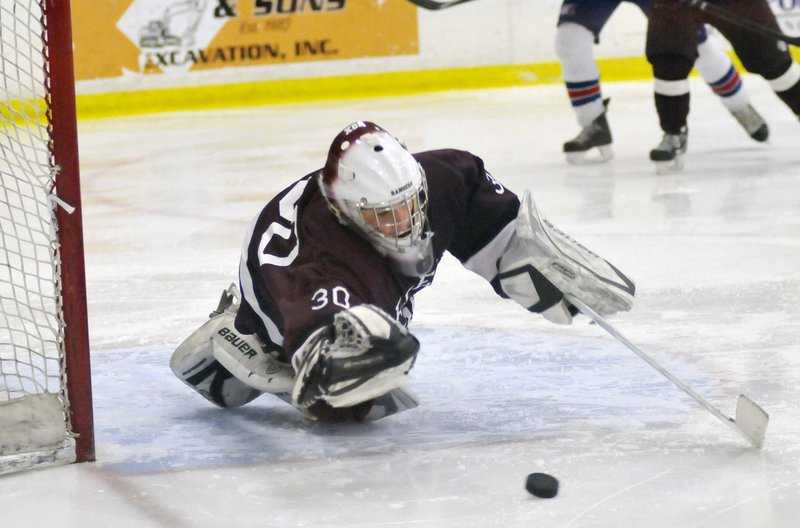Freshman goalie Kyle Kramlich was one of several underclassmen who played big roles in Greely's run to the Class B state championship.