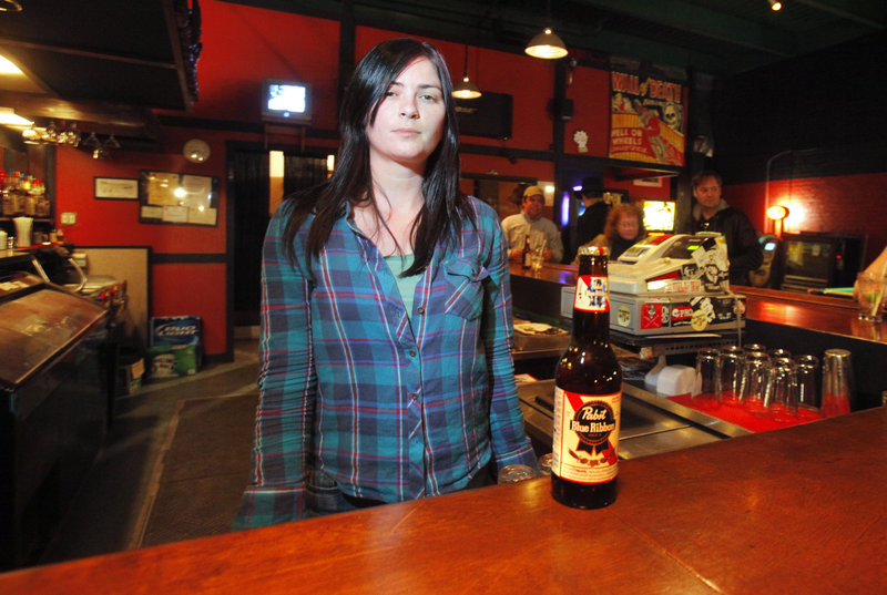 Sarah Mallory is a bartender at Geno's on Congress Street in Portland. Geno's has a full bar and can make almost any drink you ask for, but Mallory says the people's choice just may be the tried and true Pabst Blue Ribbon.