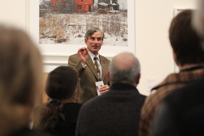 """William D. """"Bro"""" Adams recently led a gallery talk at the Colby College Museum of Art in Waterville, where he curated an exhibition of pieces gleaned from the museum's curator."""