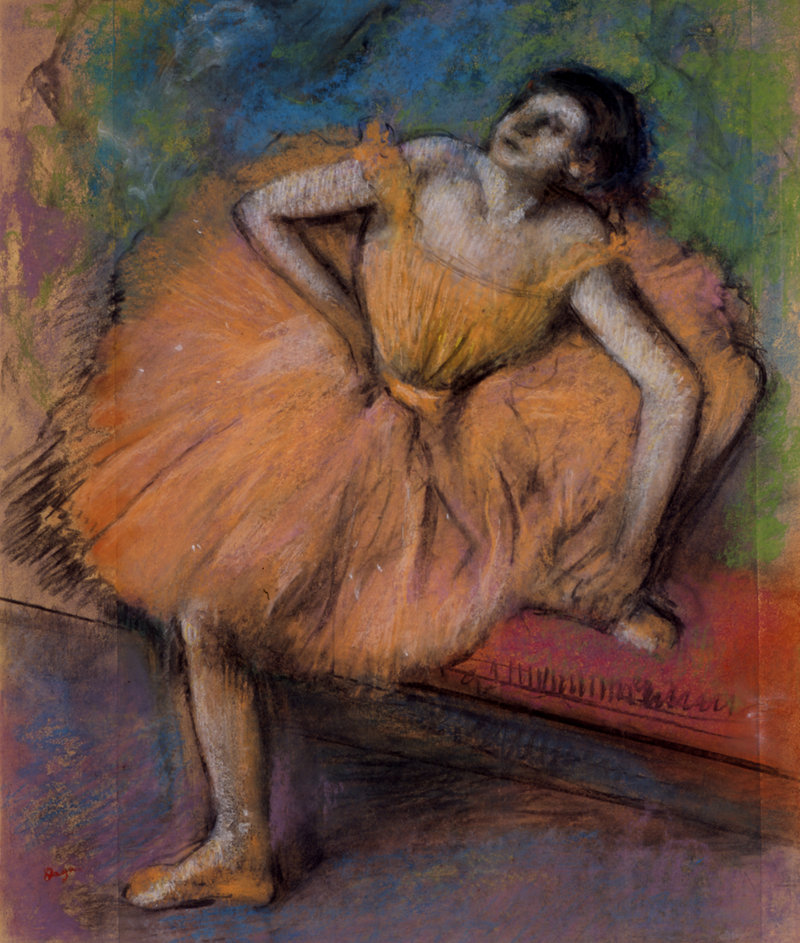 "... ""Danseuse Assise (Seated Dancer),"" pastel on joined paper mounted on board, 1894 ..."