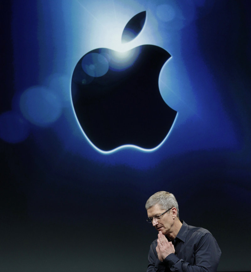 "Apple CEO Tim Cook said of the dividend payments and stock buyback, ""These decisions will not close any doors for us."""
